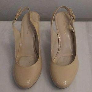 Cream color shoes